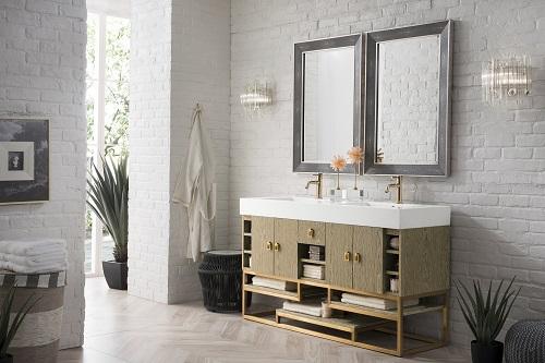 "Tahoe 59"" Double Bathroom Vanity 867-V59D-CTG-G from James Martin Furniture"