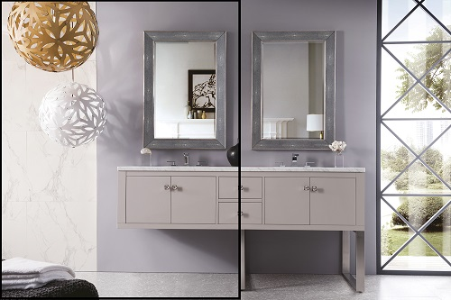 """Westlake and Silverlake 72"""" Double Bathroom Vanities from James Martin Furniture"""