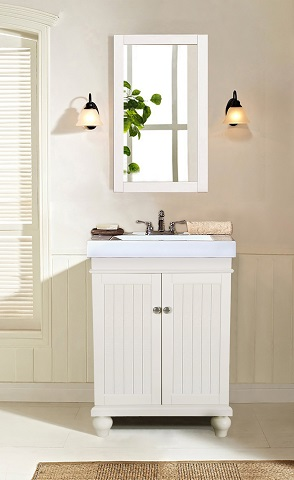 "Matt White 24"" Sink Vanity WLF6028-W from Legion Furniture"