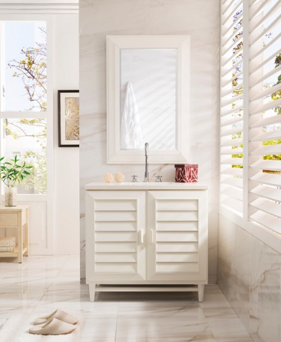 "Portland 36"" Single Bathroom Vanity In Cottage White 620-V36-CWH from James Martin Furniture"