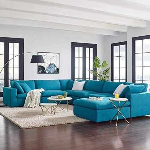 This modular Commix sofa set from Modway Furniture can be purchased in pieces and combined to create anything from a full-sized sectional to a couple cozy armchairs and an ottoman that can be pushed together into a sleeper sofa