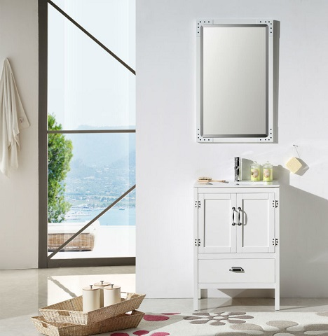 "White 24"" Vanity WH5624-W from Legion Furniture"