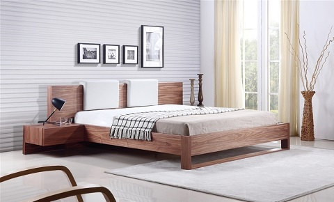Bay Collection Walnut Veneer King Bed TC-0197-K-WAL from Casabianca