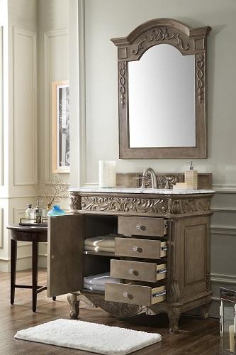 "Monte Carlo 36"" Single Bathroom Vanity in Empire Gray 207-MC-V36-EG from James Martin Furniture"
