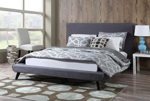 Nixon Grey Linen Bed in Queen TOV-B14-Grey-Q from TOV Furniture