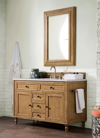 "Copper Cove 48"" Single Vanity Cabinet 300-V48-DRP-30GLB in Driftwood Patina from James Martin Furniture"