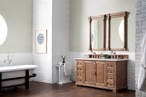 "Providence 60"" Double Vanity Cabinet 238-105-5611-3CLW in Driftwood from James Martin Furniture"