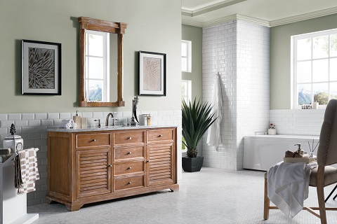"Savannah 60"" Single Vanity Cabinet 238-104-5311-3CLW in Driftwood from James Martin Furniture"