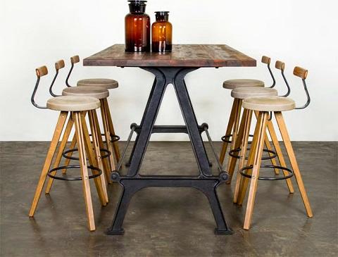 Kosen Dining Table in Reclaimed Hardwood HGDA441 from Nuevo Living