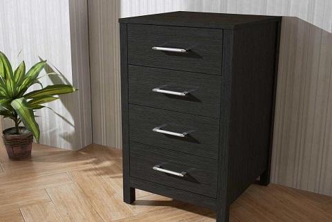 "Dior 18"" Modern Side Cabinet in Zebra Gray KSC-700-ZG from Virtu USA"