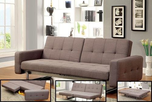 Ellise Contemporary Style Convertible Futon Sofa IDF-2704 from Furniture of America