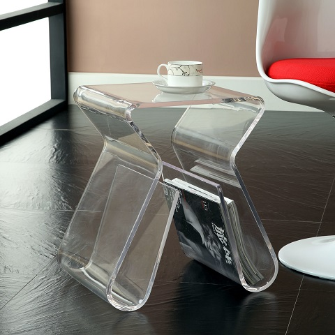 Magazine Clear Acrylic Side Table EEI-561-CLR from Modway Furniture