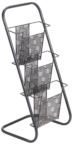 Sole Magazine Rack A11878 in Black from Zuo Modern