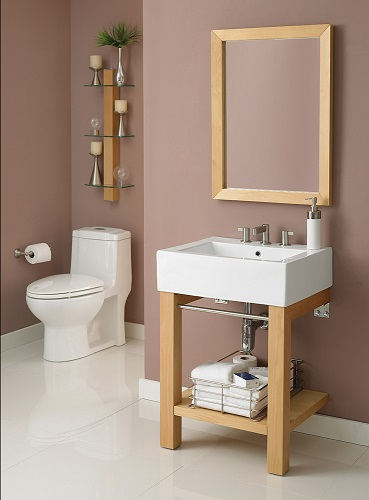 Infusion Wall Mounted Lavatory Console in Mable 2550-8CHW-MP from Decolav