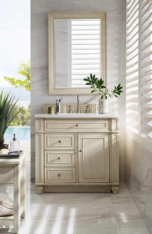 "Bristol 36"" Single Bathroom Vanity in Vintage Vanilla 157-V36-VV from James Martin Furniture"