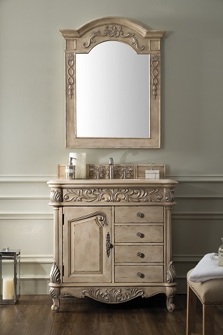 """Monte Carlo 36"""" Single Bathroom Vanity in Empire Linen 207-MC-V36-EL from James Martin Furniture"""