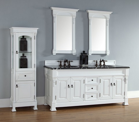 """Brookfield 72"""" Double Bathroom Vanity In Cottage White 147-114-5741 from James Martin Furniture"""