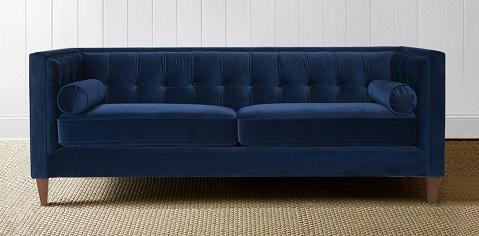 Jack Dark Blue Tufted Velvet Sofa 8403-3-859 from Jennifer Taylor