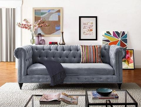 Hanny Gray Velvet Sofa TOV-S48 from TOV Furniture
