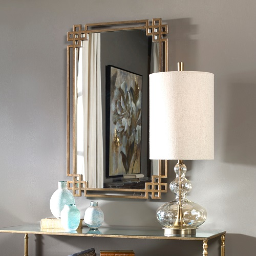 Devoll Antique Gold Mirror 12930 from Uttermost