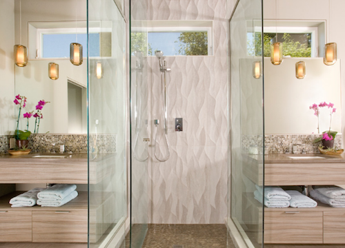 Frameless showers are great for open-plan bathrooms. (By Chown Hardware)