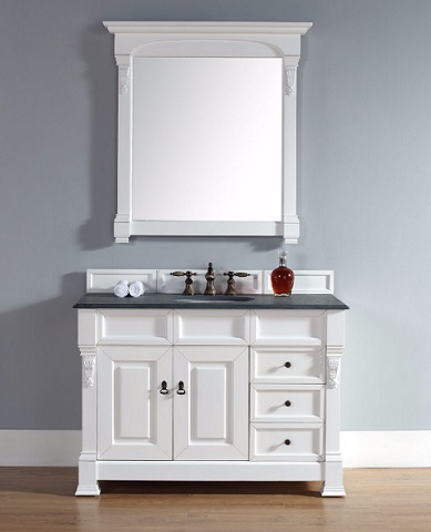 """Brookfield 48"""" Single Bathroom Vanity in Cottage White 147-114-5246 From James Martin Furniture"""