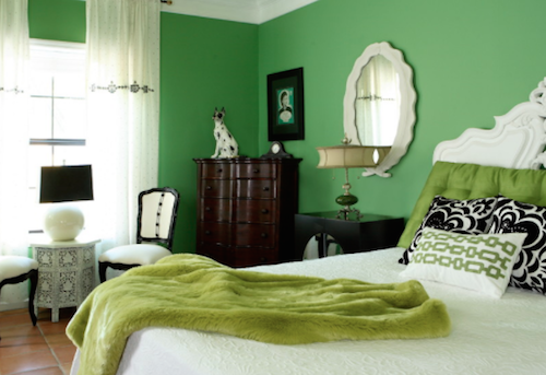 So many greens, so little time. (By Design Theory Interiors of California, Inc. Photo by Chris Little Photography)