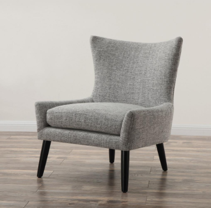 Sullivan Grey Linen Chair, TOV-A42G by TOV Furniture