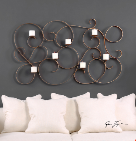 7 Candle Wall Sconce, 04030 by Uttermost