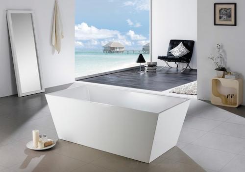 "Squadra 59"" Free Standing Bathtub, KFST5059 by KubeBath"