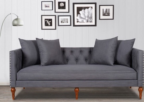 Stanbury Grey Sofa , 63012-3-885 by Jennifer Taylor
