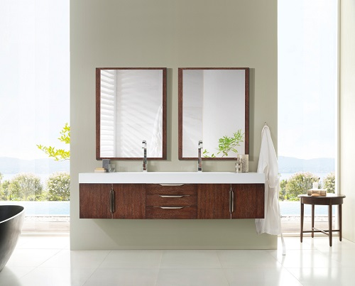 "Mercer Island 72"" Double Bathroom Vanity 389-V72-CFO-A from James Martin Furniture"
