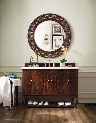 "Palm Beach 48"" Single Bathroom Vanity in Dark Amber 420-V48-DKA from James Martin Furniture"