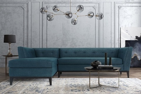 Jess Azure Textured Linen Laf Sectional TOV-L4922-L4914 from Tov Furniture