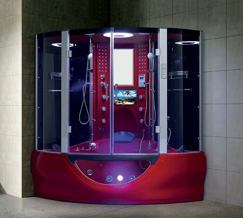 Superior Combination Steam Shower With Jetted Tub In Red 104 from Maya