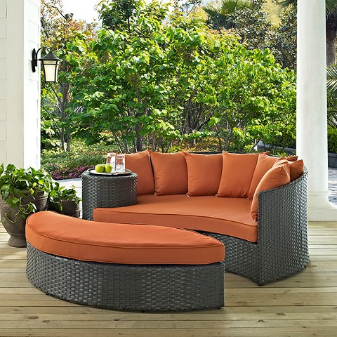 Sojourn Outdoor Patio Daybed EEI-1982-CHC-TUS from Modway Furniture