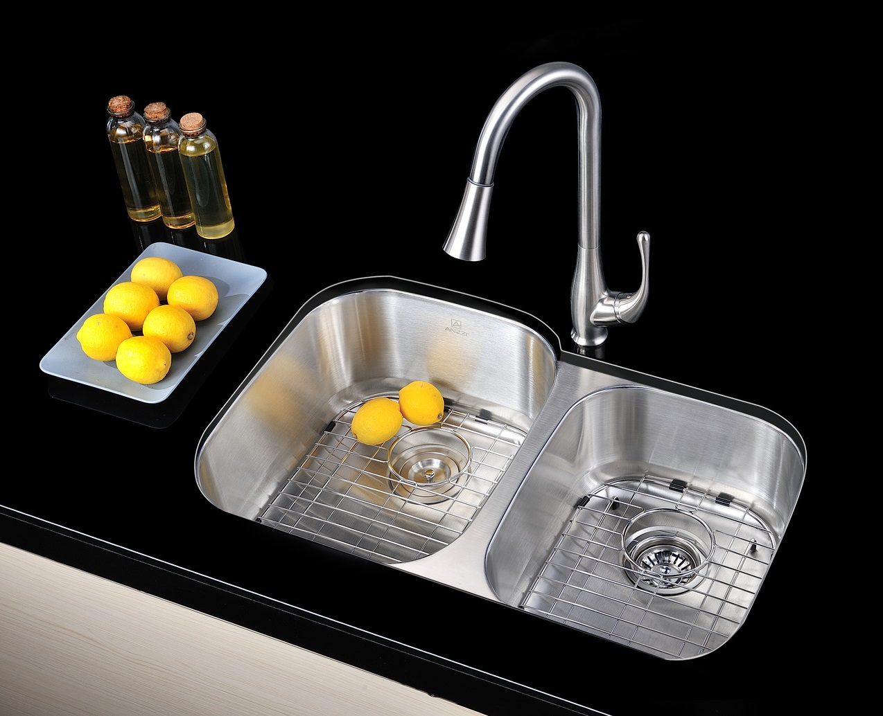 Moor Dual Basin Under Mount Kitchen Sink K-AZ3220-3B from Anzzi