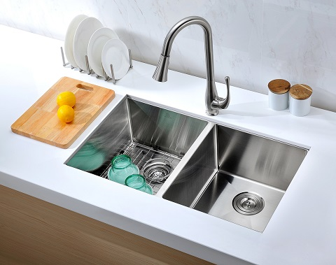 Vanguard Undermount Dual Basin Kitchen Sink K-AZ3219-2A from Anzzi