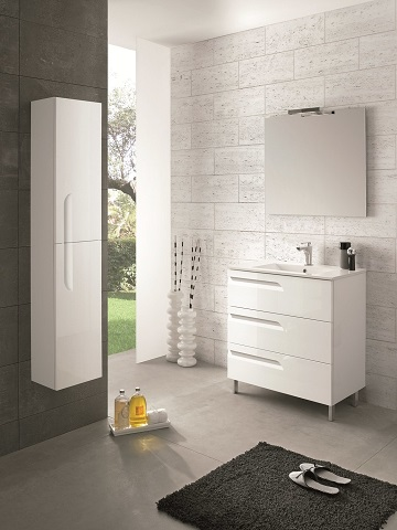 "Vitale 24"" White Modern Bathroom Vanity EVVN23-24WH-Vitale from Eviva"