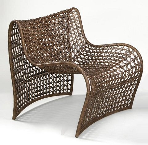 Lola Indoor Occasional Lounge Chair 05-Lola Brn from Oggetti