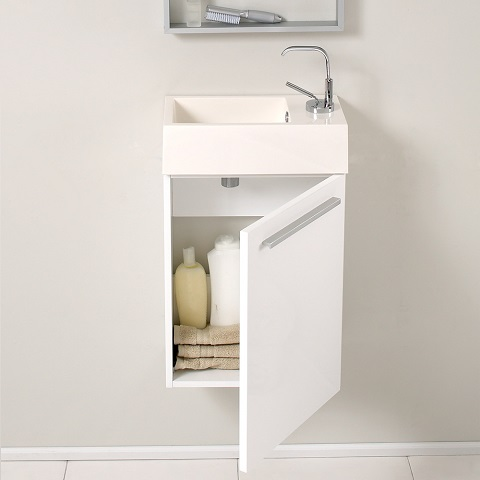 "Pulito 16"" Modern Bathroom Vanity FVN8002WH from Fresca"