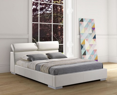 Godard King Sized Bed Frame in White 800215 from Zuo Modern