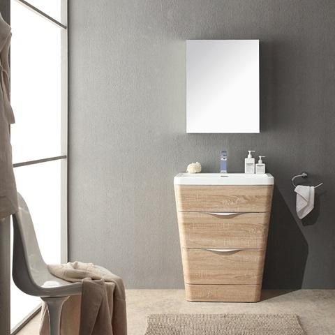 "Milano 26"" Bathroom Vanity FVN8525WK from Fresca"