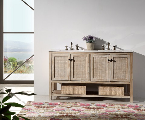 """White Washed 48"""" Wood Vanity WH5148 from Legion Furniture"""