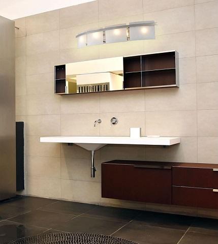Briston 4-Light Bathroom Vanity Light In Satin Nickel 11283-4 from Elk Lighting