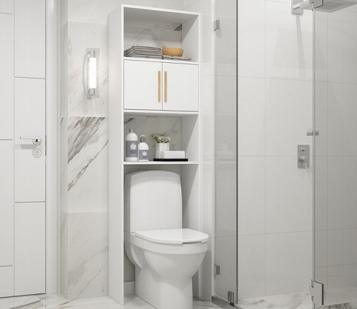 Herald Over The Toilet STorage With Three Shelves from Manhattan Comfort