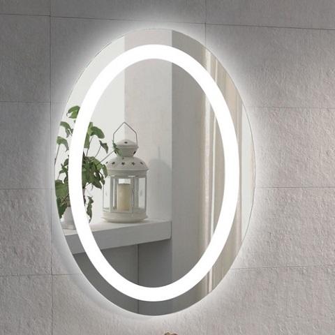 Illuminated Oval Vanity Mirror ARROV from Glimmer