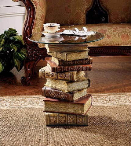 Power of Books Side Table NG32069 from Toscano