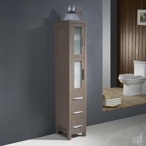 Torino Tall Bathroom Linen Side Cabinet FST6260GO from Fresca