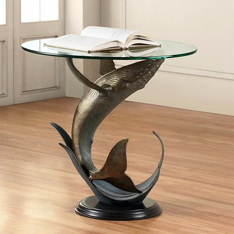 Whale End Table 34055 from SPI Home
